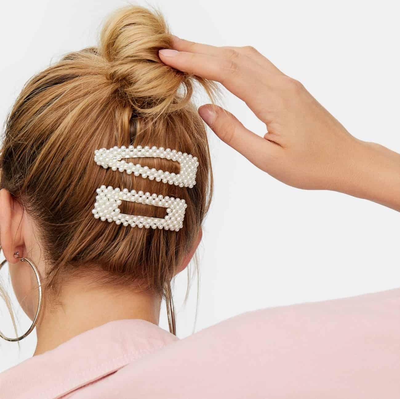 Jasmine Pearl Hair Clip Set