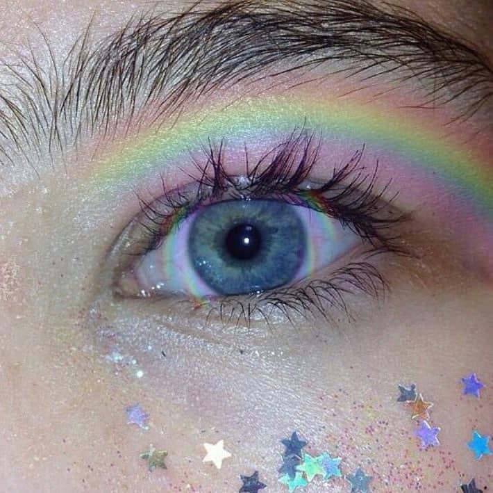 Starfall Glitter Makeup