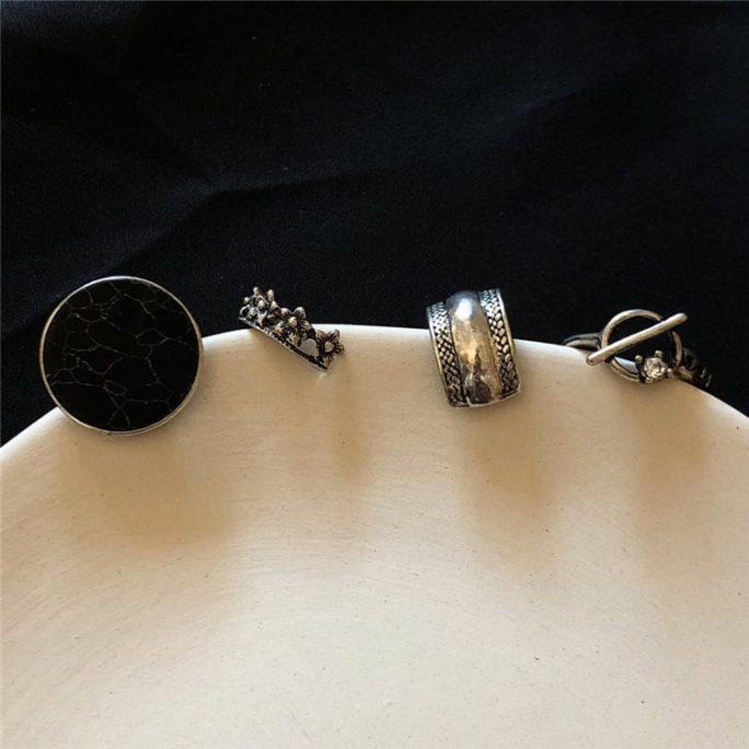 Marble Ring Set (4 pcs)